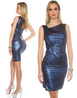 Koucla Fashion Jurk in Metallic Look  Blauw