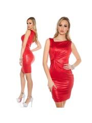 Koucla Fashion Jurk in Metallic Look Rood