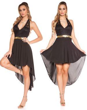 Neckholder Fashion Avondjurk Zwart