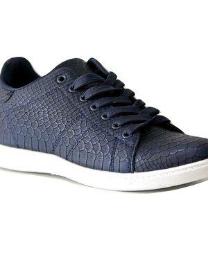 Trendy Sneakers met Vetersluiting Blauw