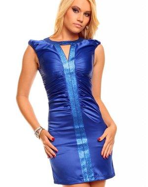 Nauwaansluitende Fashion Mini Jurk Royal Blauw
