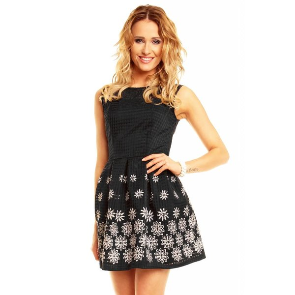 Armloos Fashion Mini Jurk Zwart