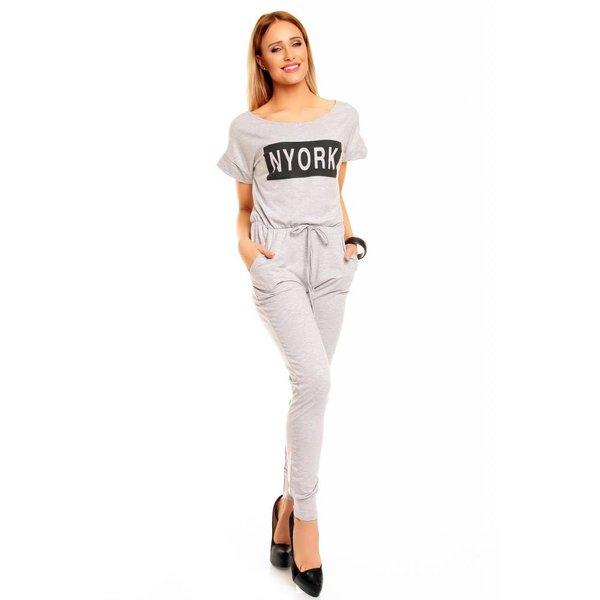 "Lange Fashion Jumpsuit ""NYORK"" Grijs"