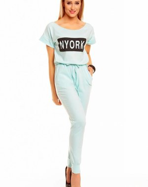 "Lange Fashion Jumpsuit ""NYORK"" Aqua"