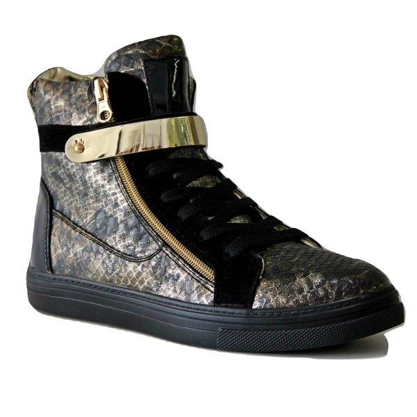 Trendy Sneakers met Metalen Klittenband