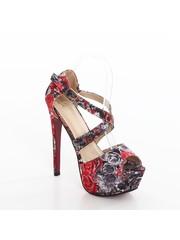 Fashion Hak Sandalen met Bloemenprint