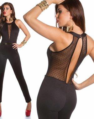 Dames Lange Elegante Jumpsuit Zwart