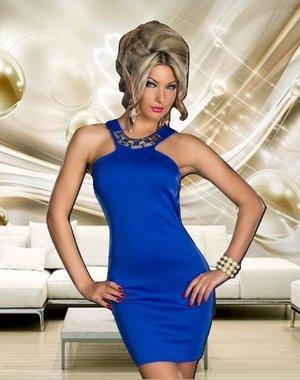 Mooi & Elegant Fashion Mini Jurkje Royal Blauw