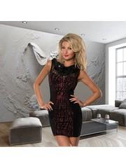 Elegante Fashion Mini Jurk Rood / Zwart
