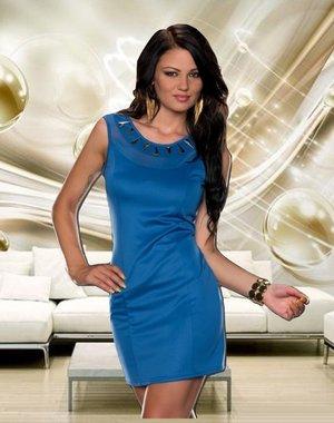 Mooi & Elegant Fashion Mini Jurk Blauw