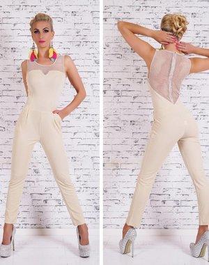 Lange Fashion Jumpsuit Beige