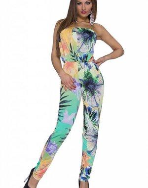 Lange Strapless Jumpsuit Multicolor