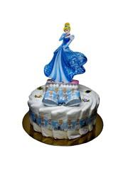 """Eigen merk Pampertaart / Luiertaart """"Disney Princess"""" Blauw"""