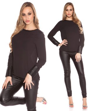 KouCla Fashion Blouse Zwart