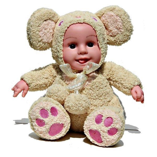 Baby Knuffelpop Licht Bruin 28cm