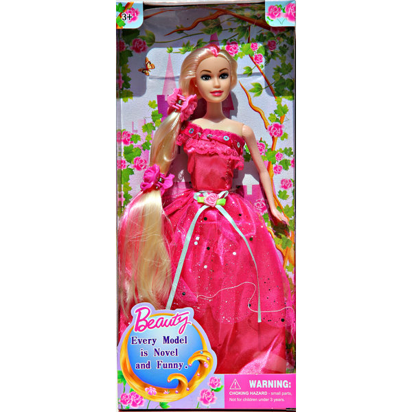 Beauty Princess met Prachtige Jurk Pink