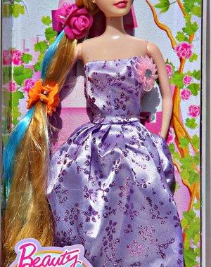 Beauty Princess met Prachtige Jurk Purple