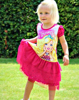 "Barbie Jurk ""Big Dreams"" Fuchsia"