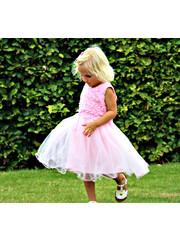 Princessen Jurk met Tulle Rok Baby Roos