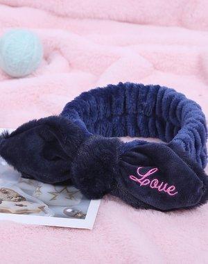 "Knuffelzachte Haarband met Tekst ""Love"""