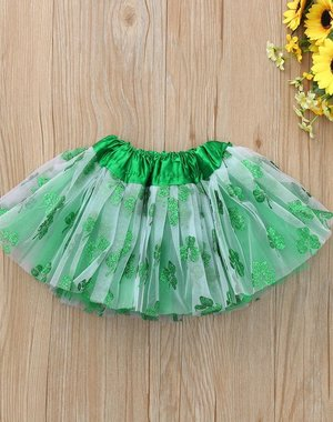 Meisjes Tutu Rok met Wit / Groen 3-5 jaar