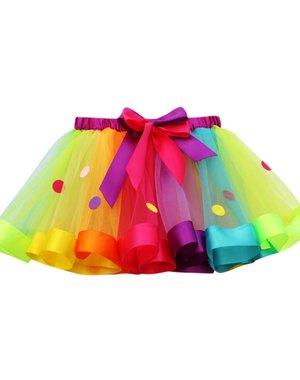 Meisjes Multicolor Tutu Rok 3-5 / 6-8 jaar
