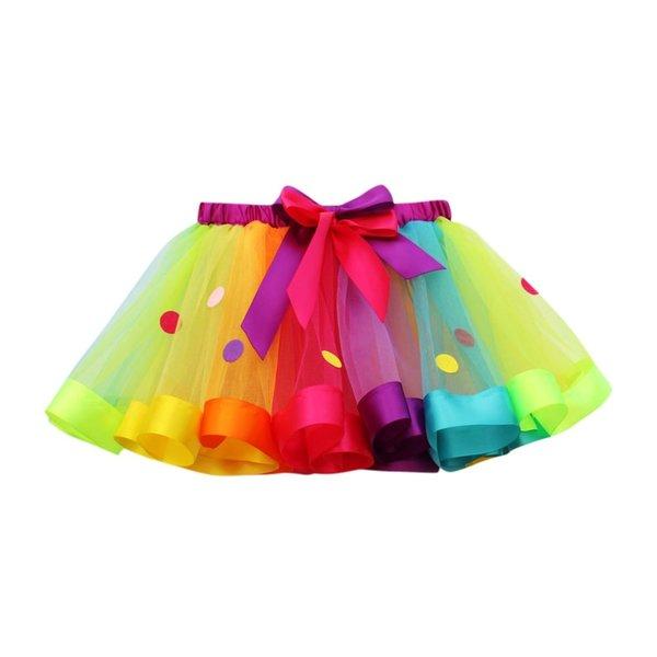 Meisjes Multicolor Tutu Rok 3-4 jaar