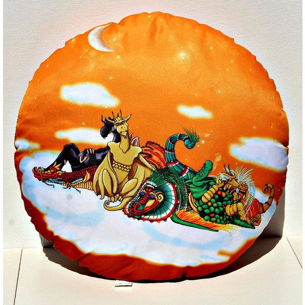 Ronde Oranje Kussen 40 cm