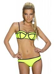 Beugel Bikini Set met Streep Design Geel