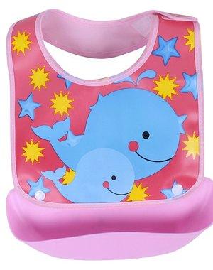 Waterdicht Baby Slabbetje Pink