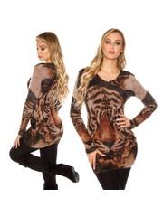 Knuffelzachte Fashion Lange Pullover Capuccino