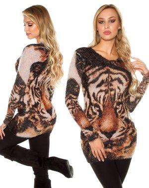 Knuffelzachte Fashion Lange Pullover Beige