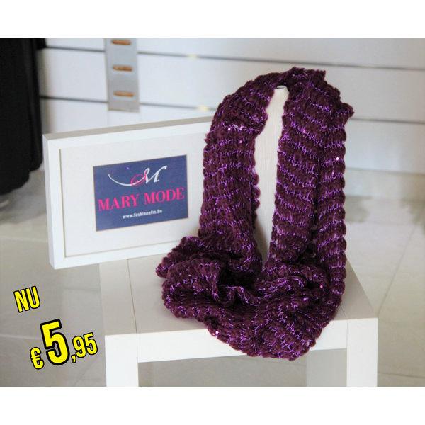 Gebreide  Col-Sjaal Violet