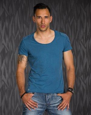 T-Shirt in Casual Stijl met Ronde Hals
