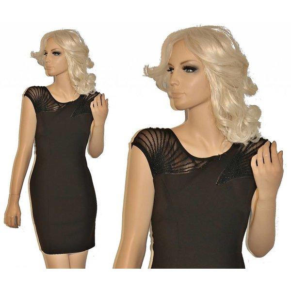 Elegante Fashion Mini Jurk Zwart
