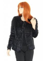 Knuffelzachte Modieuze Mantel Zwart