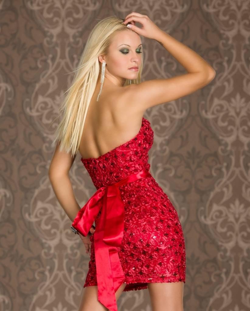 d9d40e383c1122 Stijlvol   Elegant Feestjurkje Rood - Fashion Of M