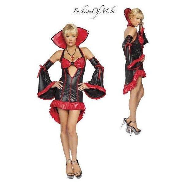 Dracula Kostuum Zwart - Rood