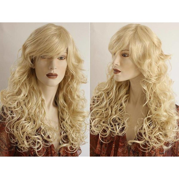 Lange Pruik Blond Haar