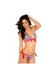 Neckholder Multicolor Bikini Rood
