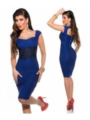 Elegante Fashion Jurk Royal Blauw