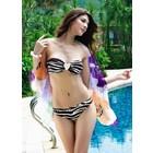 SeXy Zebra Bikini met Hart Decoratie Bruin