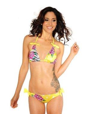 Neckholder Multicolor Bikini Geel