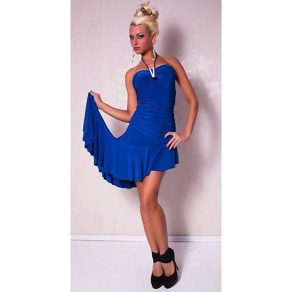 Latino Royal Blauw Avondjurk met Glitter Effect