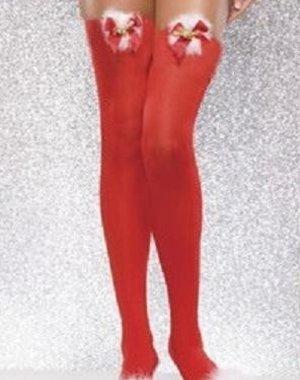 Sensueel Rode Overknee Kousen