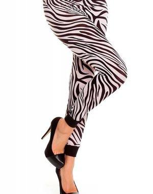 Trendy Legging met Zebra Print