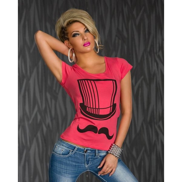 Mooi Topje / Shirt met Korte Mouwen Lachs