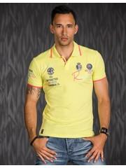 Polo Shirt met Korte Mouwen & Borduursel Geel