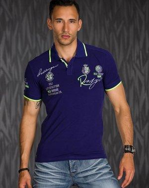 Polo Shirt met Korte Mouwen & Borduursel Lila
