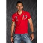Polo Shirt met Korte Mouwen & Borduursel Rood